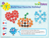 Brain Flakes® STEM Makerspace Challenge Task Cards   Includes 16 Building Topics