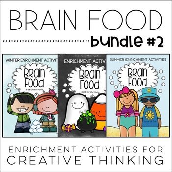 Brain Food BUNDLE #2 - Printable Activities for Creative Thinking!