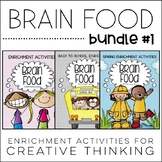 Brain Food BUNDLE #1! Printable Activities for Creative Thinking