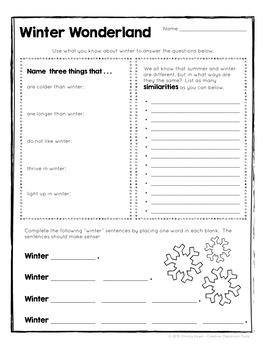 Brain Food: Winter Fun! Printable Activities for Creative Thinking