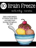 Brain Freeze Activity Cards