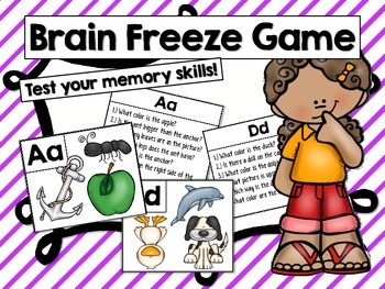 Brain Freeze Game- Test your memory skills!