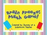 Brain Freeze!: Math Board Game