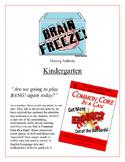 """Brain Freeze!"" Missing Addends Kindergarten Common Core Game"