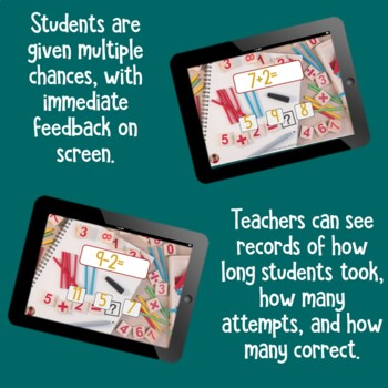 Brain Friendly Addition and Subtraction Level 7 +2 Fact Families BOOM Cards