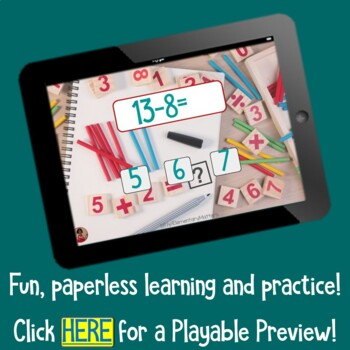 Brain Friendly Addition and Subtraction Level 8  Remaining Families BOOM Cards
