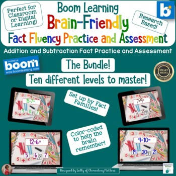 Brain Friendly Addition and Subtraction The Bundle BOOM Cards