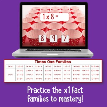 Brain Friendly Multiplication and Division  Level1 x1 Fact Families BOOM Cards