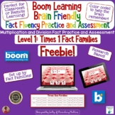Brain Friendly Multiplication and Division  Level 1 x1 Fact Families BOOM Cards