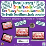 Fact Fluency Multiplication and Division Bundle BOOM Cards