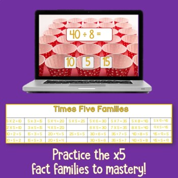 Brain Friendly Multliplication and Division Fact Fluency Level 3  X5 Families