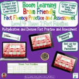 Brain Friendly Multliplication and Division Fact Fluency Level 4  X2 Families