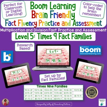 Brain Friendly Multliplication and Division Fact Fluency Level 5  X9 Families