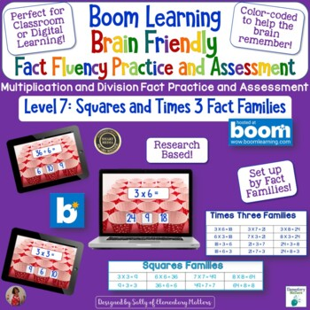 Brain Friendly Multliplication and Division Facts Level 7  squares &X3 Families