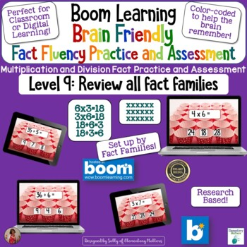 Brain Friendly Multliplication and Division Facts Level 9  Review all Families