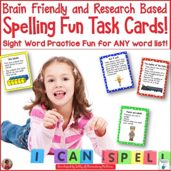 Spelling Fun Task Cards  Research Based Sight Word Practice Fun for ANY Words