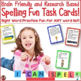 Brain Friendly Spelling Fun Task Cards: Sight Word Practic
