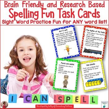 Brain Friendly Spelling Fun Task Cards: Sight Word Practic
