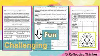 Brain Games: Challenging Vocabulary Puzzle Activities to Teach Author's Tone