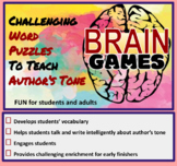 Brain Games: Challenging Vocabulary Puzzle Activities to T