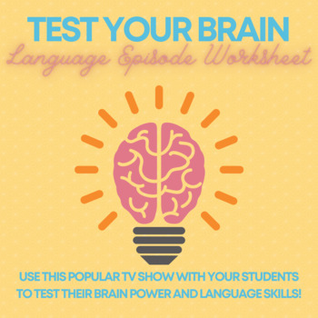 Brain Games Worksheet-Language Episode