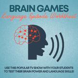Test Your Brain Worksheet-Language Episode (Communication;