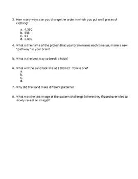 Brain Games Worksheet- Language and Patterns