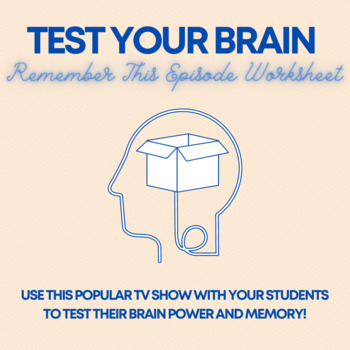 Brain Games Worksheet: Remember This!