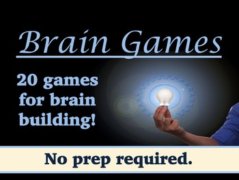 Brain Games and Teasers to Improve Memory and Cognition (No Prep)