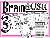 Brain Gush 3:  Math for GT, fast finishers, choice centers!