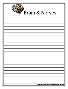 Brain & Nerves Notebooking Page - Lined