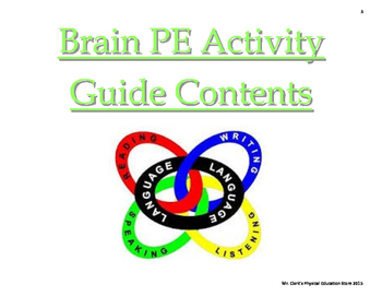 Brain PE Language Arts Activity Guide