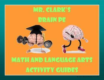 Brain PE Math and Language Arts Activity Guides Bundled
