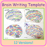 Brain Writing Template - I Am Smart, I Am Unique, etc.