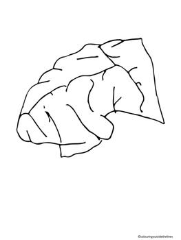 Brain Parts - Cut & Paste AND Color the parts worksheet