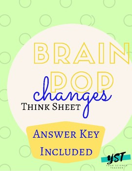 Brain Pop: Changes Think Sheet/Guided Notes w/Answer Key
