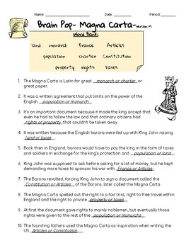 Brain Pop- Magna Carta