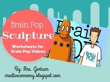 Brain Pop Sculpture Handout for Elementary Art