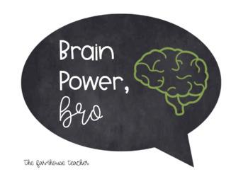 Brain Power Chalkboard Poster - FREEBIE