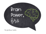 Brain Power Chalkboard Poster - FREEBIE
