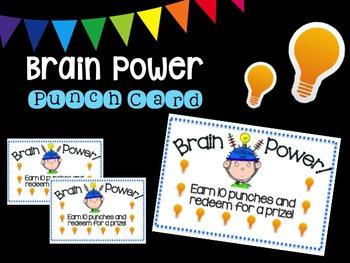 Brain Power Punch Card