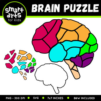 brain puzzle clipart by smart arts for kids teachers pay teachers brain puzzle clipart