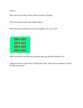 Brain Puzzles and Teasers