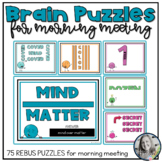 Brain Puzzles and Teasers for Morning Meetings