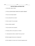 Brain Stew Mixtures and Solutions Video Worksheet and Answers