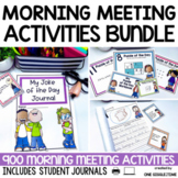 Morning Meeting Activities Bundle