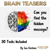 Brain Teasers Bell Ringers Growth Mindset quote - Back to School
