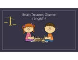 Word Puzzles and Brain Teasers Game in English