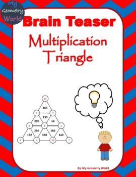 Math Brain Teaser: Multiplication Triangle