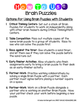 Brain Teaser Number Puzzles